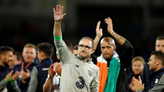 Irlands landstræner, Martin O'Neill (forr.), glæder sig til landskampene mod Danmark. Han spillede på hold med den danske landstræner, Åge Hareide, i Manchester City i begyndelsen af firserne.