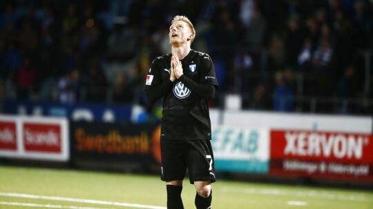 Anders Christiansen kom på scoringslisten, da Malmö FF mandag genvandt det svenske mesterskab. Nu drømmer han om Champions League og det danske landshold.