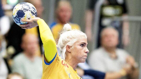 Kristina Kristiansen og Nykøbing Falster Håndbold måtte se sig slået af København Håndbold. Billedet er fra en tidligere kamp.