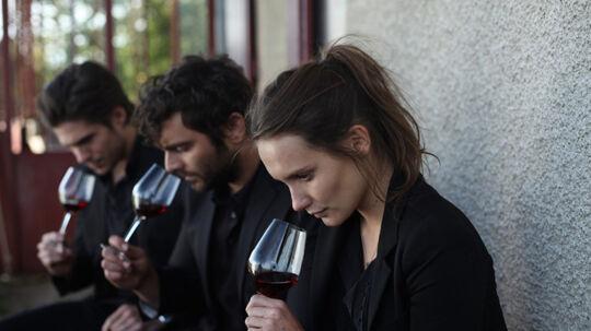 Søskende-trekløveret Jérémie, Jean og Juliette er opvokset i vinens verden. Foto: SF-Studios
