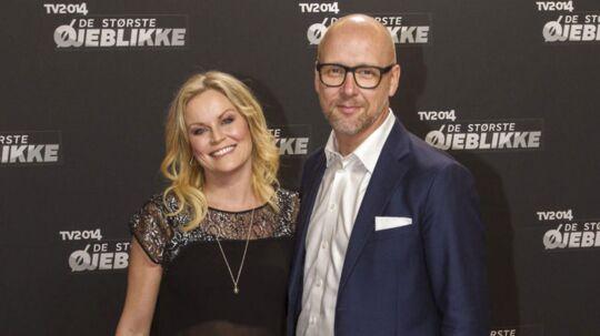 Cecilie Hother sammen med sin kommende mand Thomas.