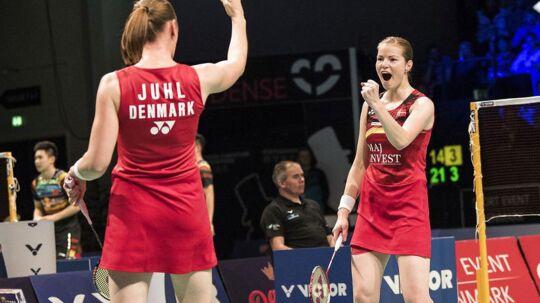 Damedouble Kamilla Rytter Juhl og Christinna Pedersen.