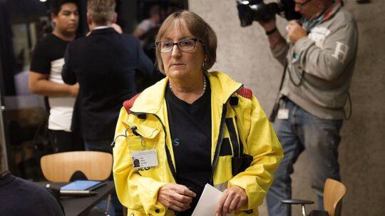 Trine Lilleeng, læge fra Slagelse Sygehus fortæller på et pressemøde torsdag d. 19 oktober 2017 om familien på 12 medlemmer fra Haslev som er blevet forgiftet. To børn er afgået ved døden.