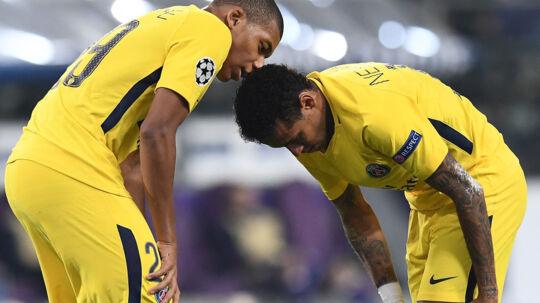 Kylian Mbappé (til venstre) kan forvente masser af gode råd fra Neymar (til højre). Scanpix/Franck Fife
