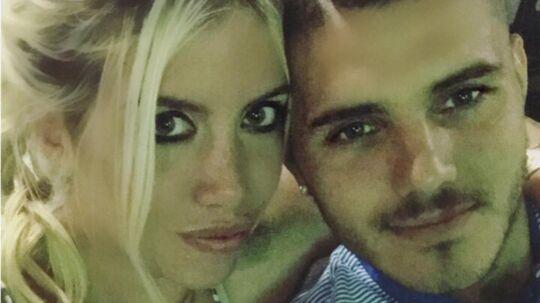 Wanda Nara og Mauro Icardi er nu gift på fjerde år.