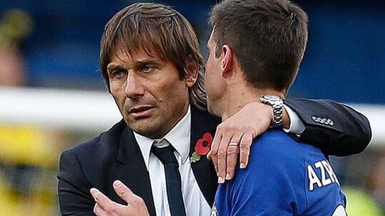 Chelsea-manager Antonio Conte kunne lørdag se sit hold hente en 4-2-sejr over Watford, der ellers førte 2-1 midtvejs i anden halvleg. Scanpix/Ian Kingston