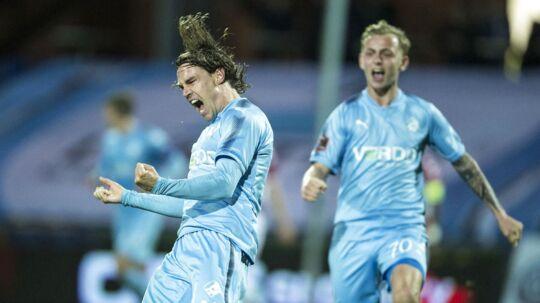 Randers FCs Erik Marxen udligner til 1-1 i kampens sidste minut.