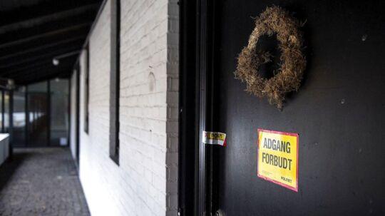 Opholdsstedet i Haslev hvor den forgiftede familie boede fotograferet torsdag d. 19 oktober 2017. 12 personer blev kørt på diverse hospitaler efter formentlig at have spist giftige svampe.De er nu samlet på Rigshospitalet.De 12 personer er ifølge politiet fra samme familie. Politiet holder pressemøde om sagen på Næstved Politistation under Sydsjællands og Lolland-Falsters Politi. (Foto: Nils Meilvang/Scanpix 2017)