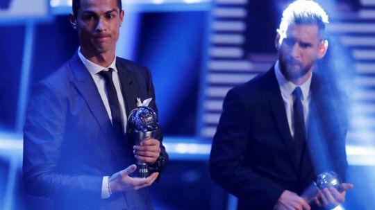 Cristiano Ronaldo og Lionel Messi er de evige rivaler i international topfodbold.