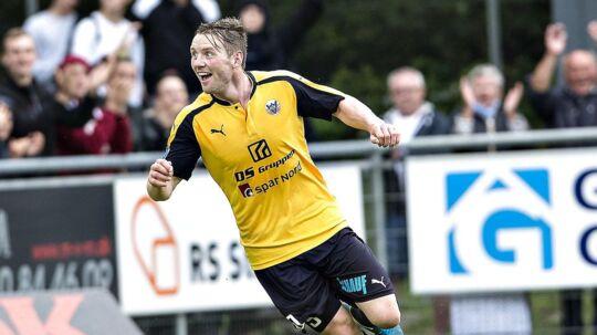 Hobros Pål Alexander Kirkevold har scoret til 2-0 mod Lyngby (foto: Henning Bagger / Scanpix 2017)