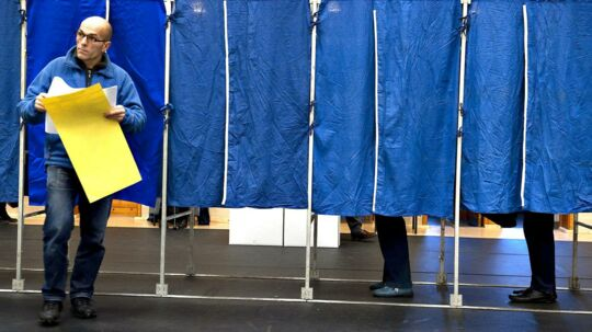 ARKIVFOTO Kommunalvalg 20091117- - Se RB INDLAND 06.32. Stem til kommunalvalget og kom gratis i svømmehallen. Kommuner lokker folk til stemmeurnerne på alternativ vis, men det er spild af kræfter, mener forsker.. (Foto: Casper Christoffersen/Scanpix 2017)