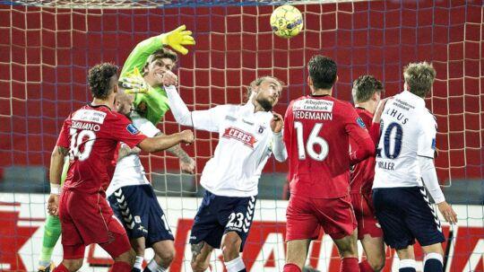 Pierre Kanstrup ()23), der her scorer AGFs enlige mål i nederlaget til FCN, langede efter kampen ud efter det AGF-forsvar, som han selv er en del af.