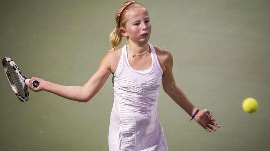 Clara Tauson er finalen i ITF Womens Circuit-turneringen i Stockholm.