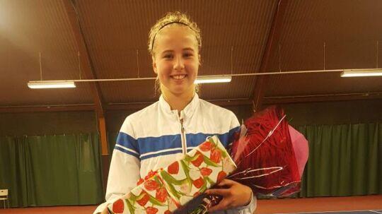 Clara Tauson efter finalesejren.