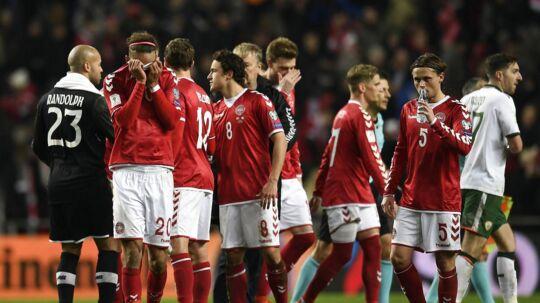 Yussuf Yuary Poulsen, Danmark efter VM play off fodboldlandskampen, Danmark-Irland, i Telia Parken i København lørdag den
