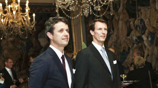 Kronprins Frederik og prins Joachim tilbage i 2012.