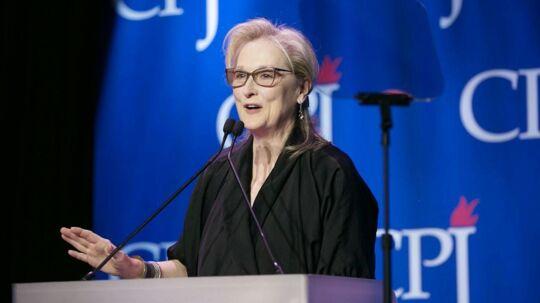 Meryl Streep talte ved den årlige International Press Freedom Awards onsdag i New York.