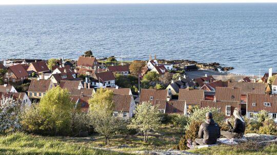 Udsigt over Gudhjem. Beboerne på Bornholm har protesteret over planerne med lyttemasten, der skal opføres i Dueodde.