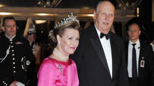 Norges dronning Sonja og kong Harald.