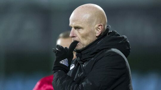 FCK-manager, Ståle Solbakken, er bestemt ikke tilfreds med sit mandskab efter 3-0 nederlaget søndag aften til SønderjyskE
