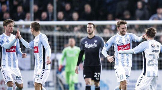 Christian 'Greko' Jakobsen jubler efter lynmålet til 1 - 0 ALKA Superliga fodbold - Sønderjyske - FCK - Sydbank Park Haderslev - Søndag den 19 November 2017
