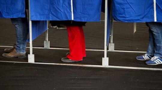 Beboerne på Christiansø kommer ikke til at gå i stemmeboksen, som det er tilfældet her på Nyboder Skole på Østerbro.