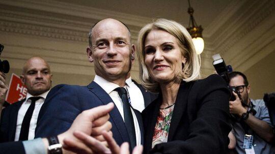 Helle Thorning-Schmidt sammen med sin mand Stephen Kinnock.
