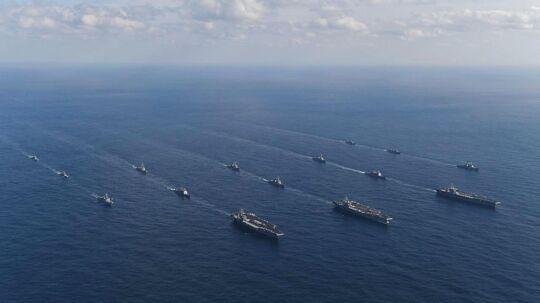 Flyet var på vej mod krigsskibet Ronald Reagan, men styrtede ned ud for Japans kyst.