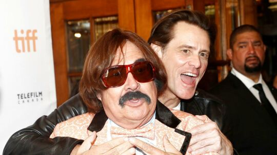 Actor Jim Carrey ved premieren på 'Jim & Andy: The Great Beyond'