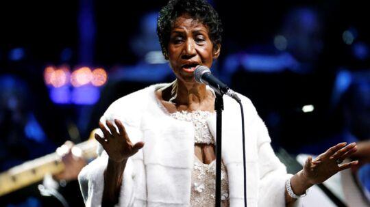 Aretha Franklin ved en optræden i november i år.