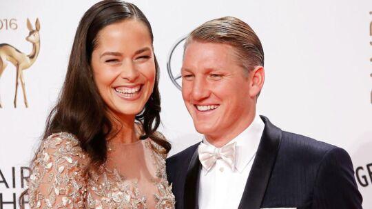 Bastian Schweinsteiger og hans kone Ana Ivanovic