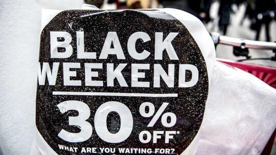 Strøget er gjort klar til Black Friday fredag den 24. november 2017.