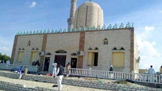 Det var i denne moské i den egyptiske by Arish, terrorangrebet fandt sted.