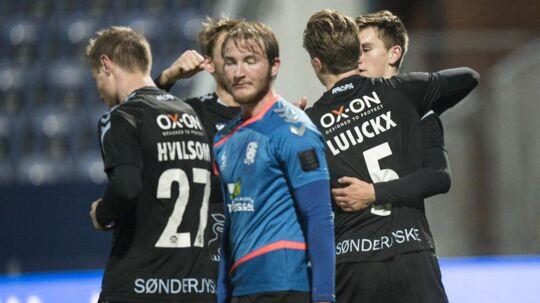 Kees Luijckx har her scoret for Sønderjyske i pokalsejren over Jammerbugt.