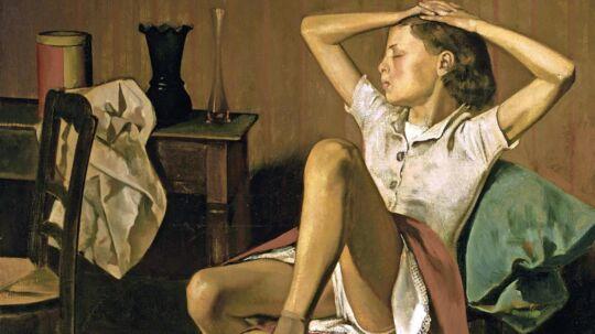 Balthus' maleri Thérése drømmer fra 1938. REUTERS/Fondation Pierre Gianadda.