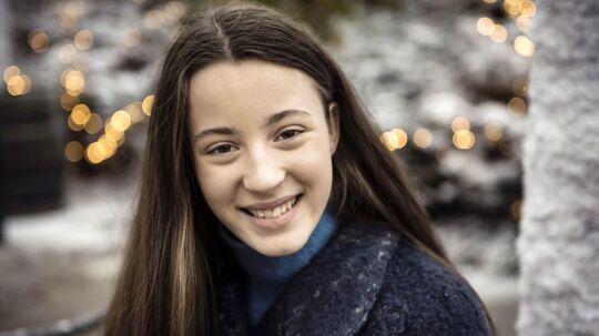 Josephine Chavarria Højbjerg, som spiller med i dette års julekalender Tinkas juleeventyr på TV2.