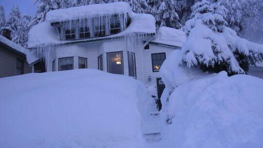 Alaska blev ramt af et af de største snefald nogensinde.