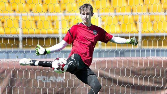 FCM er utilfredse med, at Frederik Rønnow (bill.) og Christian Nørgaard fra Brøndby får lov til at tage hjem fra liga-landsholdsturen efter første kamp mod Sverige.
