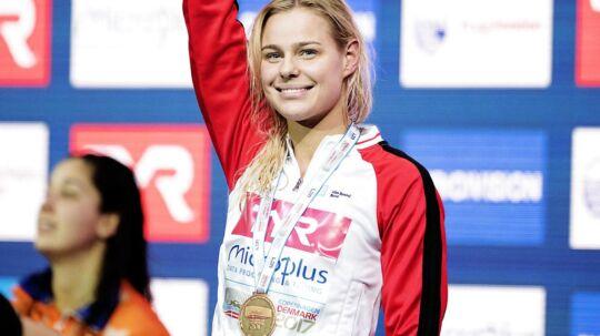 Pernille Blume vandt bronze ved EM i kortbanesvømning i Royal Arena.
