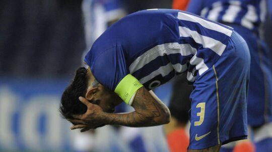 Lucho Gonzalez i aktion for FC Porto. AFP PHOTO / MIGUEL RIOPA