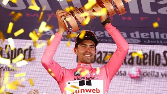 Tom Dumoulin vandt Giro d'Italia i år, og han planlægger angiveligt at forsvare sin titel i den kommende sæson.