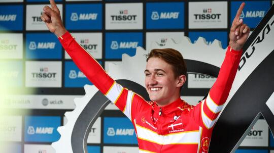 Mikkel Bjerg vandt i september U23-enkeltstarten ved VM i Norge med mere end et minuts forspring til nærmeste konkurrent. Reuters/NTB Scanpix