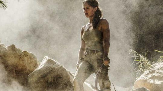 Alicia Vikander som Lara Croft. 'Tomb Raider' har premiere i marts.