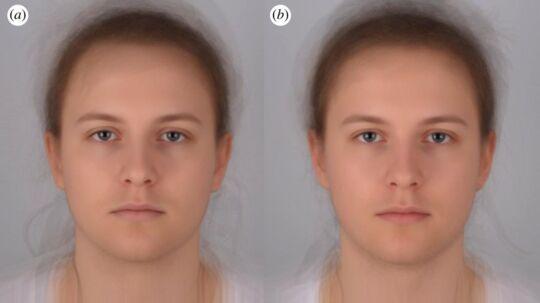 Til venstre et billede af personen, der er syg. Til højre et billede, hvor samme person er rask.