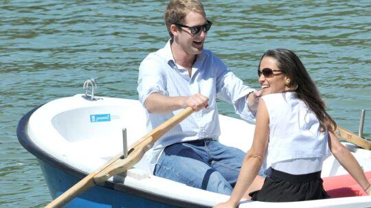 Pippa på romantisk rotur med jarl George Percy i maj. Nu er de set sammen igen.