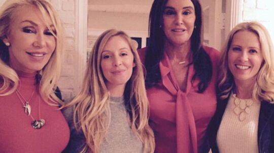 Linda Thompson med sin eksmand, nu Caitlyn Jenner, i midten.