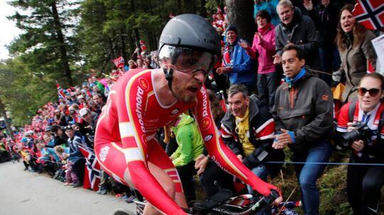 Martin Toft Madsen kørte 52,324 kilometer på en time torsdag. Reuters/Ntb Scanpix/arkivfoto