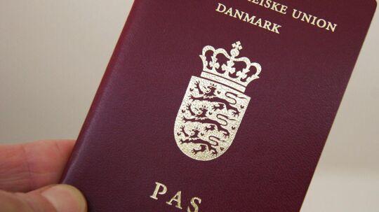 Dansk EU pas.