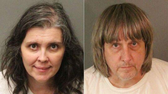 49-årige Louise Anna Turpin og hendes 57-årige mand, David Allen Turpin er blevet anholdt efter, at myndighederne fandt deres 13 børn underernærede og bundet til deres senge i hjemme i Californien.