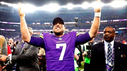 Ingen havde regnet med, at Case Keenum ville stå i NFC-finalen som startende quarterback, men Minnesota Vikings-spilleren er blot en ud af mange, der har udfyldt det tomrum manglen på superstjerner i NFL har efterladt, og det udstiller, hvilken udfordring ligaen står overfor. Foto: AFP
